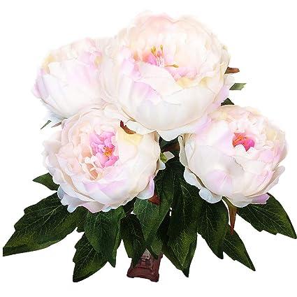 Amazon hovebeaty artificial peony silk flowers bouquet home hovebeaty artificial peony silk flowers bouquet home wedding decoration pink mightylinksfo