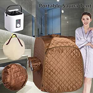 Big Times 2L Portable Steam Sauna Spa Folding Tent Fast Fold for Weight Loss Detox Relaxation Slimming Personal Home (Sauna Tent w/Steamer)