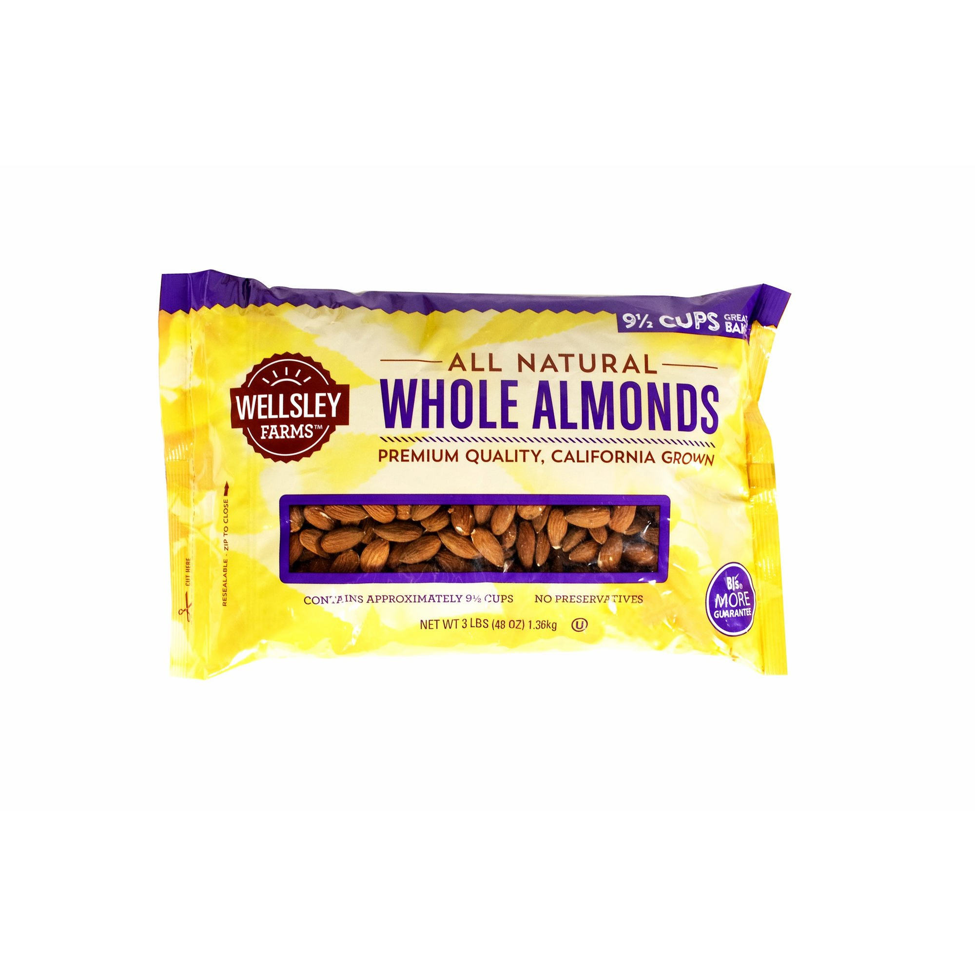Wellsley Farms Whole Almonds, 48 oz. (pack of 6)