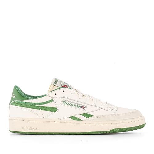 Reebok Hombre V67895 Blanco/Verde Cuero Zapatillas: Amazon.es: Zapatos y complementos