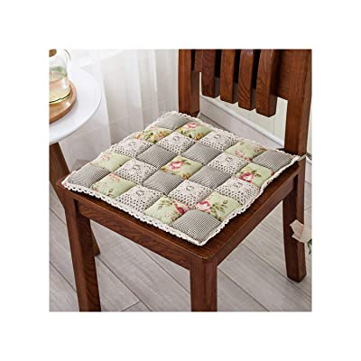 Lmanda Pastoral Joint 42X42Cm Chair Cushion Mat 14 Colors House Seat Cushion Pad 1Pcs Home Decor Floor Cushion, Huangmeigui, About 42X42Cm : Garden & Outdoor