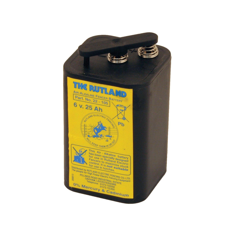 Rutland Trockenbatterie für Zaungerät ESB25, 25 Ah, 6 V, 22-105R