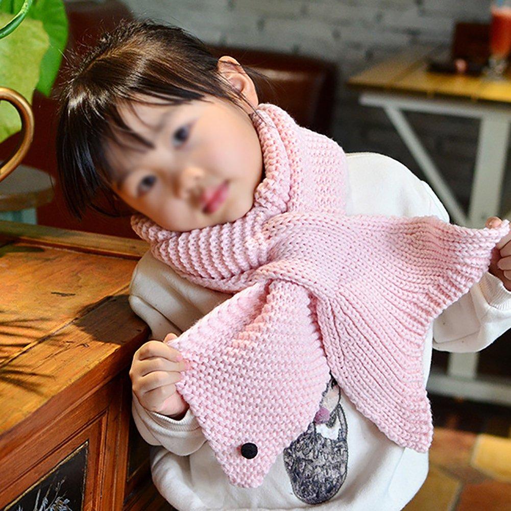 Demarkt 1 pcs Tricot écharpe Enfants Mignon Baleine Étoiles Scarf Chaud  Hiver Foulard pour Garçons Filles 15ca3797e6b