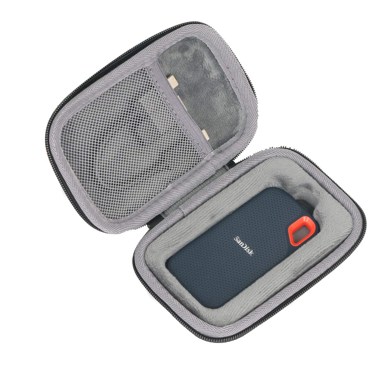 co2crea Hard Travel Case for SanDisk 250GB / 500GB / 1TB Extreme Portable SSD SDSSDE60 (Black Case with Inner Box)