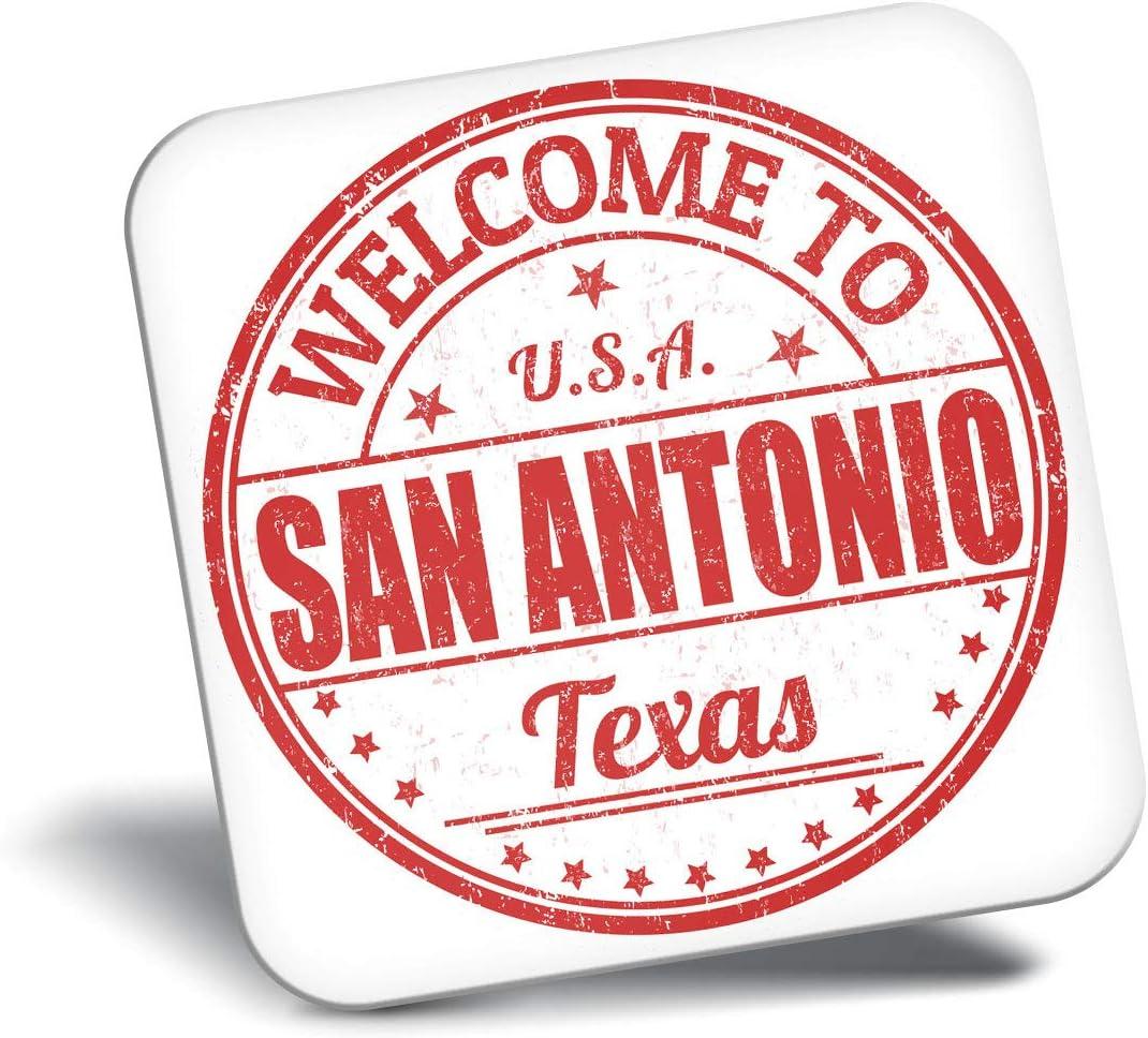 Destination Vinyl ltd Awesome Fridge Magnet - Welcome to San Antonio Texas USA 5886
