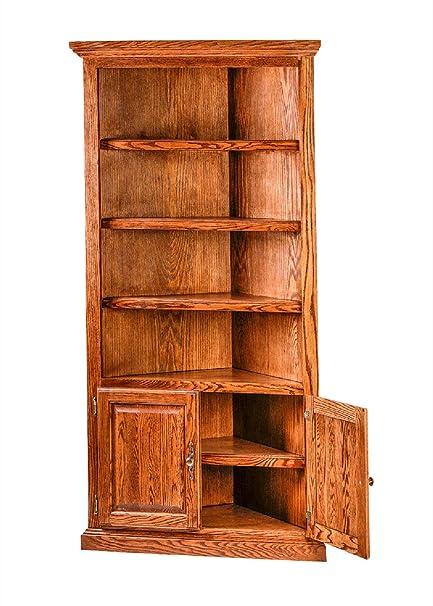 Amazon Com Forest Designs Hff 6714d Tg Corner Bookcase 27w