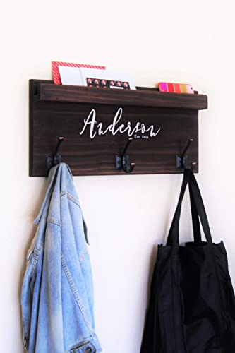 Amazon Coat Rack Family Backpack Hooks With Storage Ledge Handmade Best Anderson Coat Rack