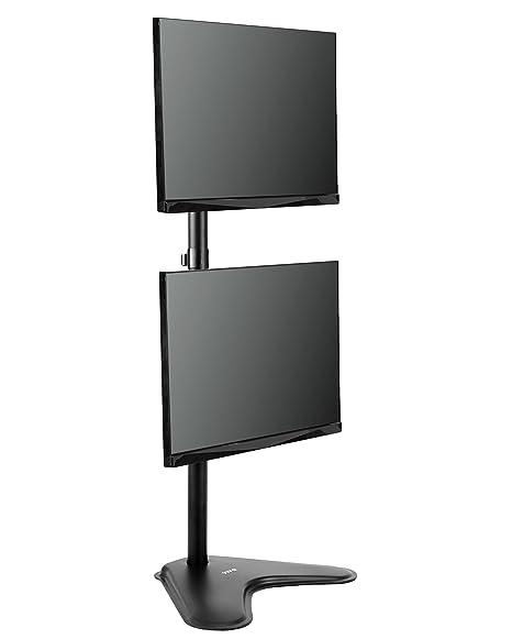Amazon Com Vivo Dual Monitor Desk Stand Free Standing Lcd Mount