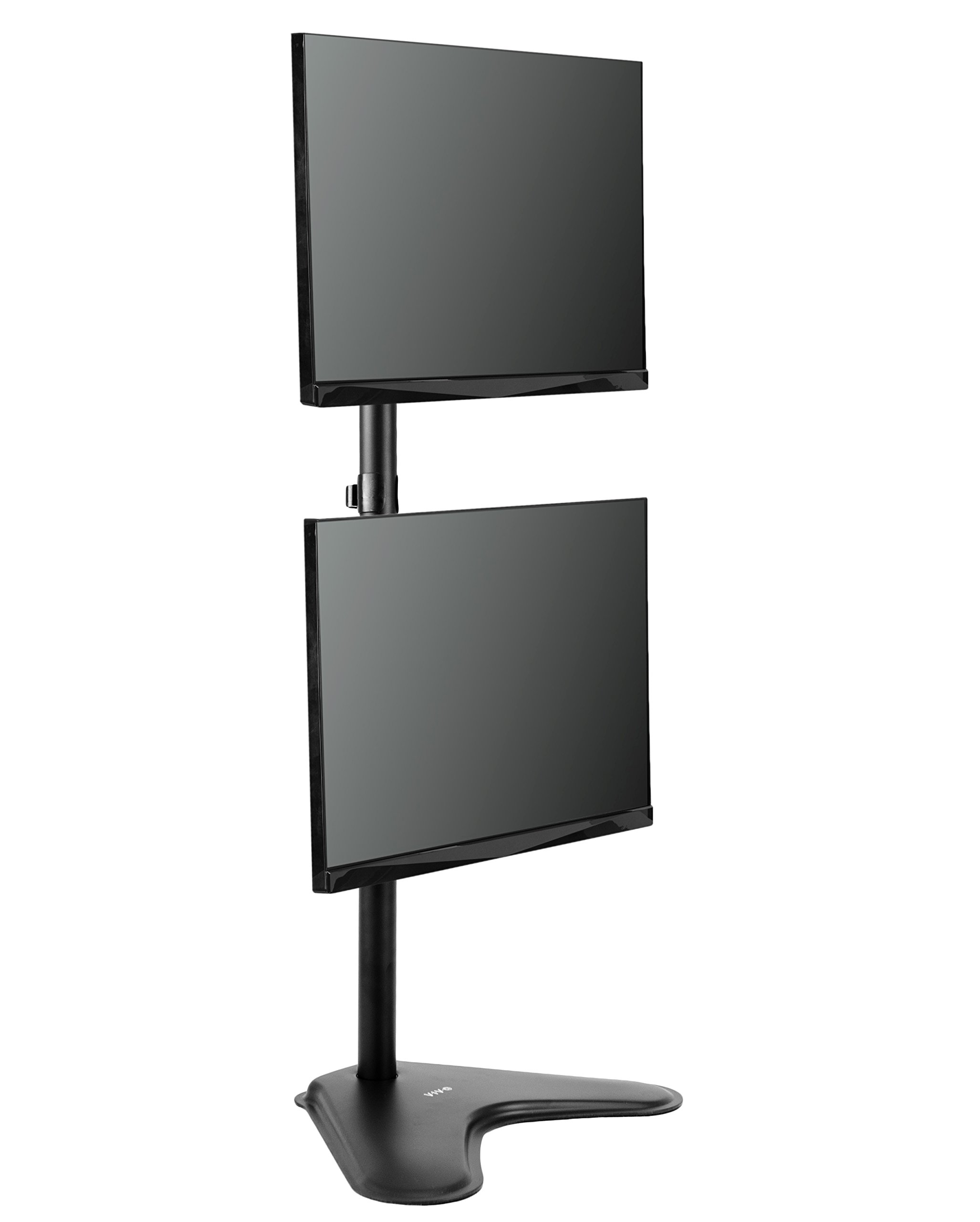 VIVO Dual Monitor Desk Stand Free-standing LCD mount, Holds in Vertical Position 2 Screens up to 30'' (STAND-V002L) by VIVO (Image #1)