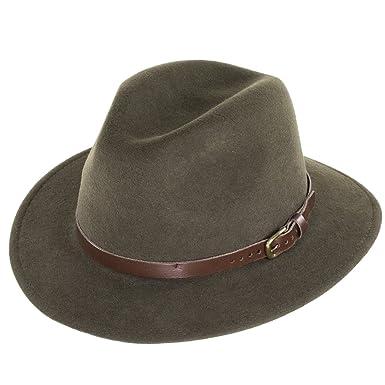 739c89eb City Sport Caps Hillstone Crushable Fedora - Olive: Amazon.co.uk: Clothing