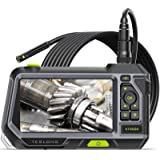 """Dual Lens Endoscope with 5"""" Monitor, Teslong NTS500 Industrial Waterproof Borescope Inspection Camera with 0.21in Front & Sid"""