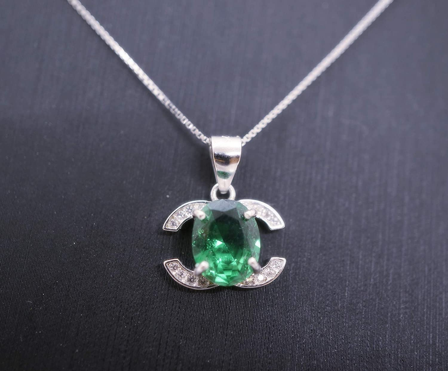 """May Birthstone Necklace Emerald Green fits 18/"""" American Girl Accessory"""