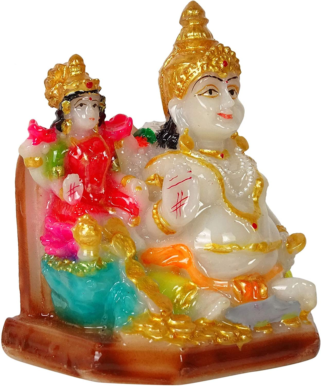 IBA Indianbeautifulart Hindu God Idol Lord Ganesha Resin Statue Sculpted In Great Detail 8 Cm Small Idol For Car Dashboard