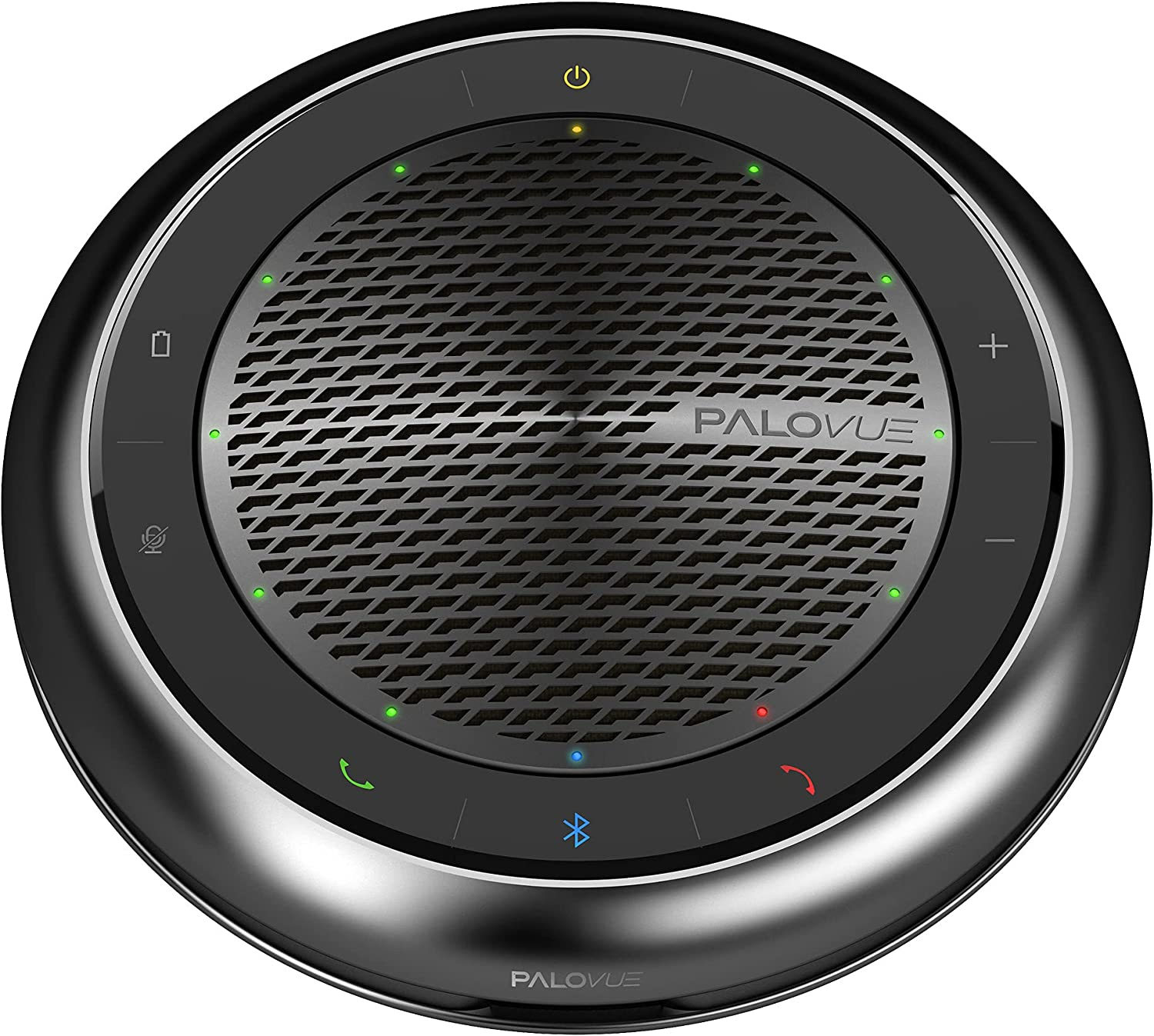 PALOVUE iConf Bluetooth 5.0 Speakerphone, Conference Speaker with CVC 8.0 Echo & Noise Cancelling and 360° Enhance Voice Pickup, 15Hours Calling Time for Home Office, Qualcomm CSR