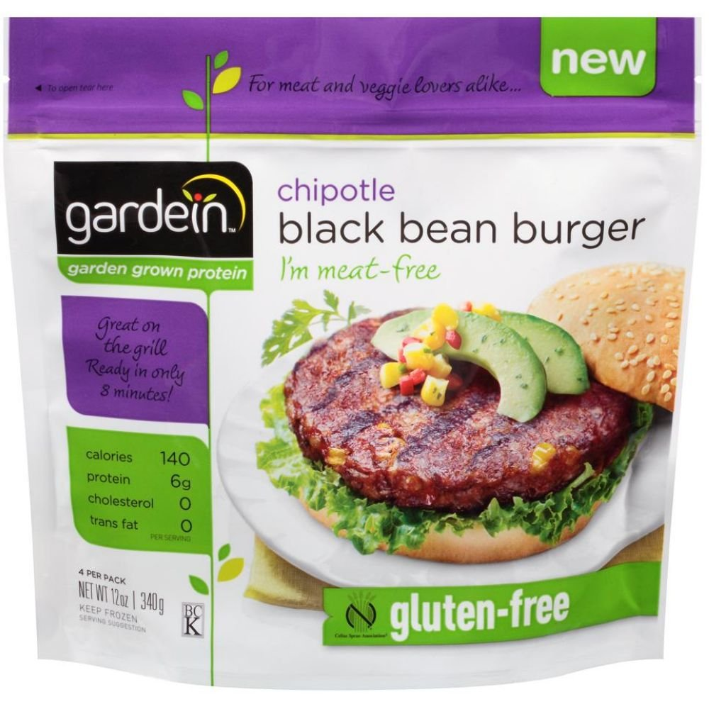 Amazon Com Gardein Chipotle Black Bean Burger 12 Ounce 8 Per Case Grocery Gourmet Food