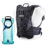 Overmont Sac à dos d'hydratation avec poche à eau 2L pour cyclisme, randonnée, Running etc.