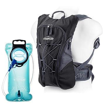 Overmont 10L Pack Mochila Hidratación, 2L-2.5L deposito de agua y 8L de capacidad de almacenamiento, vejiga bolsa de agua para camping senderismo ...