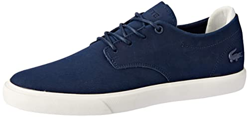2a8261627182 Lacoste Esparre 119 3 CMA Leather Trainers in Navy Blue & Off White  737CMA0024 J18 [