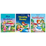 fairy tales story books for kids-Great Fairy Tales - Alice in Wonderland-Sleeping Beauty-Little Red Riding Hood-Combo-6 of 3 Books