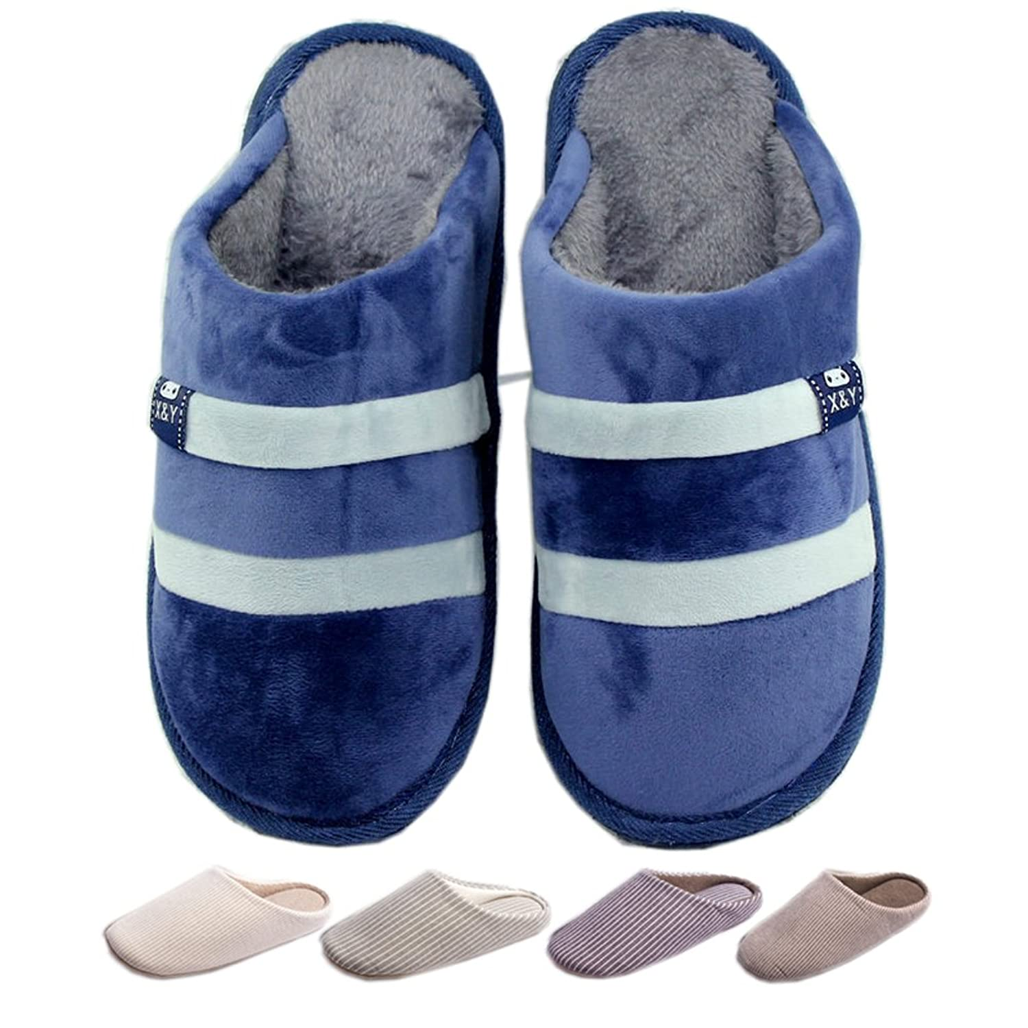 Lijeer Indoor Slippers Soft Home Autumn Winter Memory Foam Wood Floor  Couple Men Women Warm