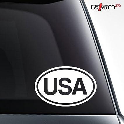Amazon Com United States Usa Oval Car Sticker Country Of Origin