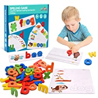Tesoky Educational Toys for 2-8 Year Old Boys Girls,Kids Learning Toys Age 3-8 Spelling Games Gifts for 3-8 Year Old Boys Girls Toddlers Toys Age 3-8 Kids Toys for Halloween Christmas Xmas Gifts
