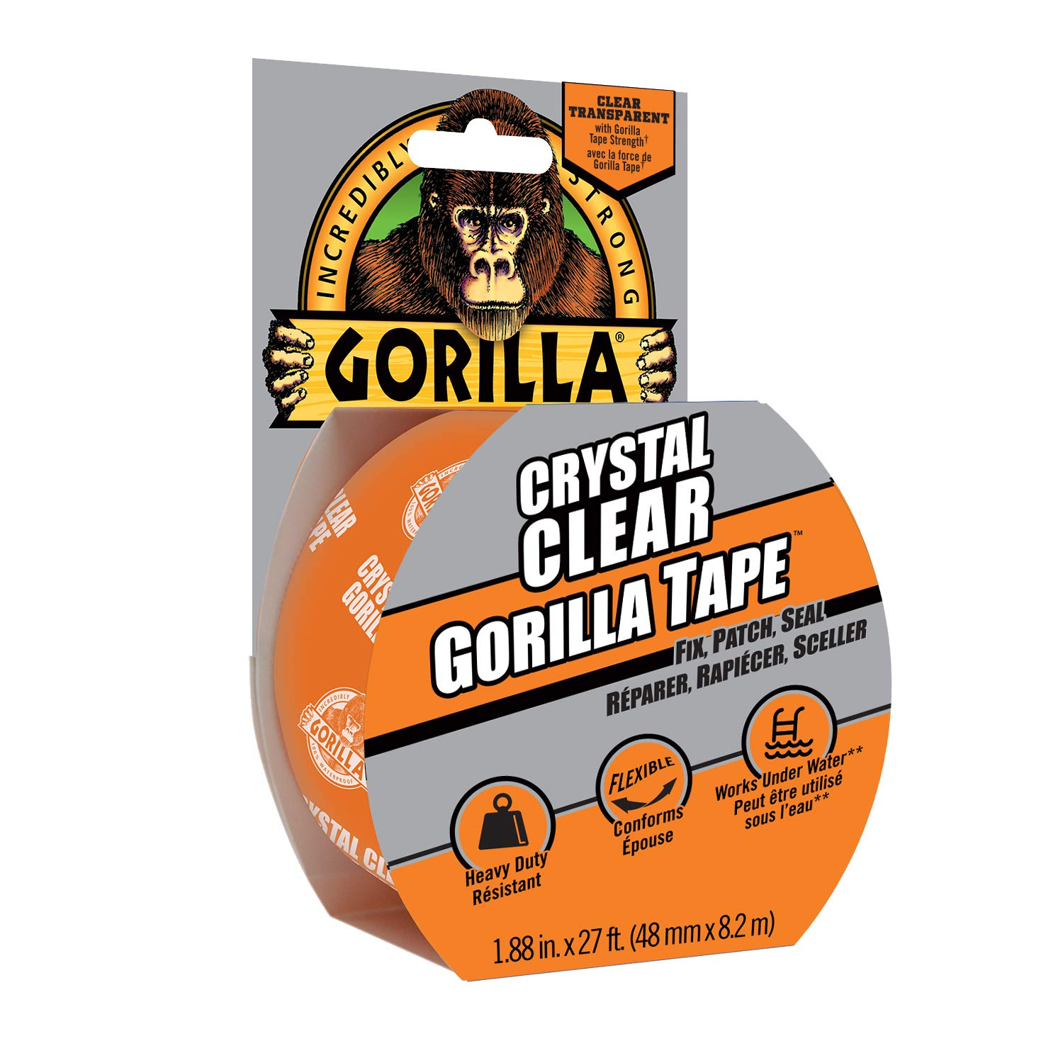Crystal Clear Gorilla Tape, 8.2 m product image