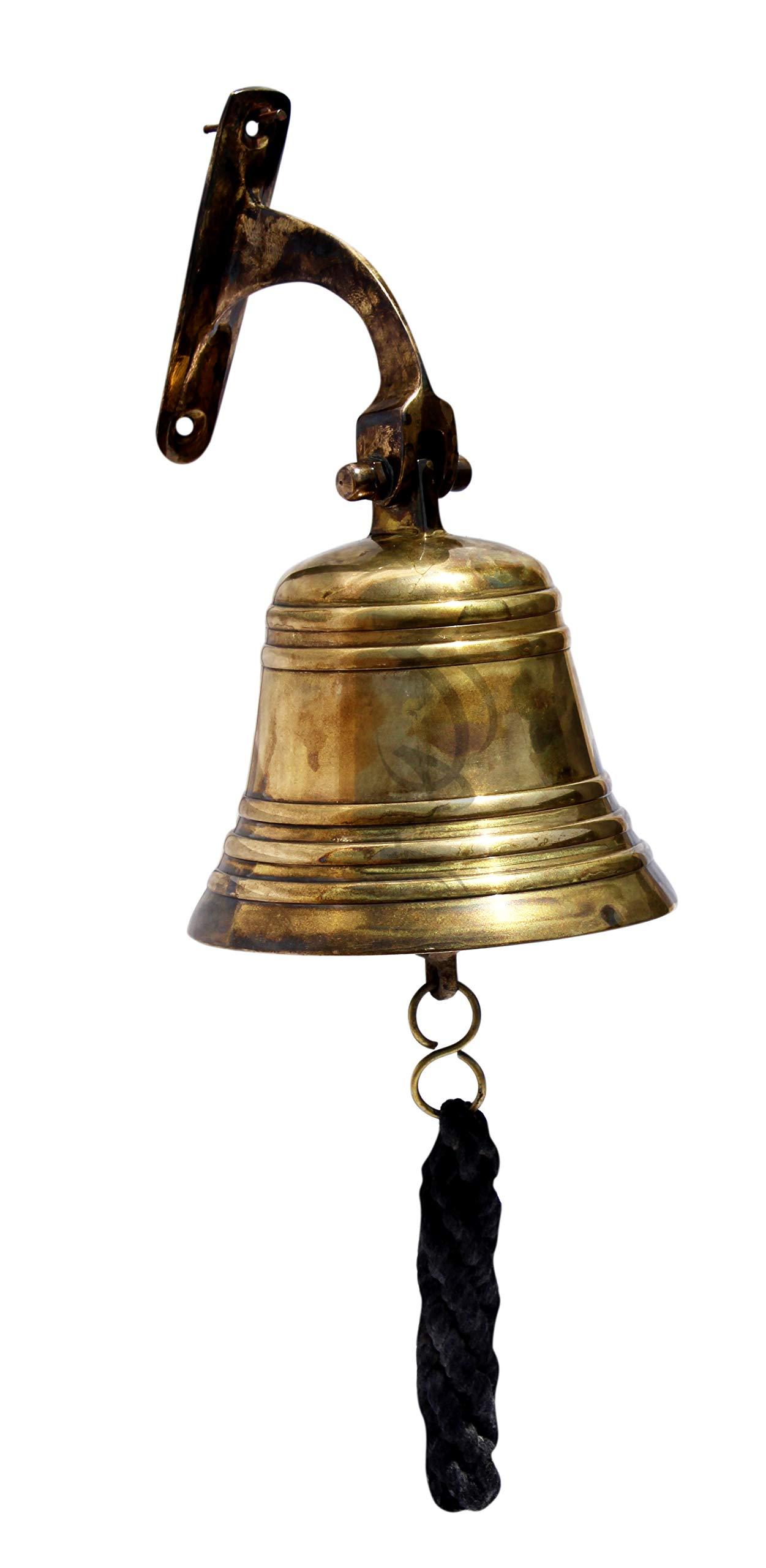 MAH Solid Brass Maritime Duty Ship Bell Nautical Home Decor Maritime Wall Bell C-3085