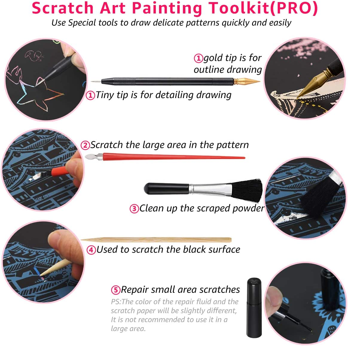 Sketch Night View Scratchboard for Kids /& Adults Scratch Art Rainbow Painting Paper 16x11.2 with 7 Tools Engraving /& Craft Set Creative Gift Sydney Opera House - Victoria Harbour - Singapore