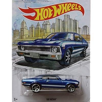 Detroit MUscle HOT Wheels Walmart Exclusive Blue '68 NOVA DIE-CAST, WAL-MART Exclusive 1968 Chevy NOVA: Toys & Games