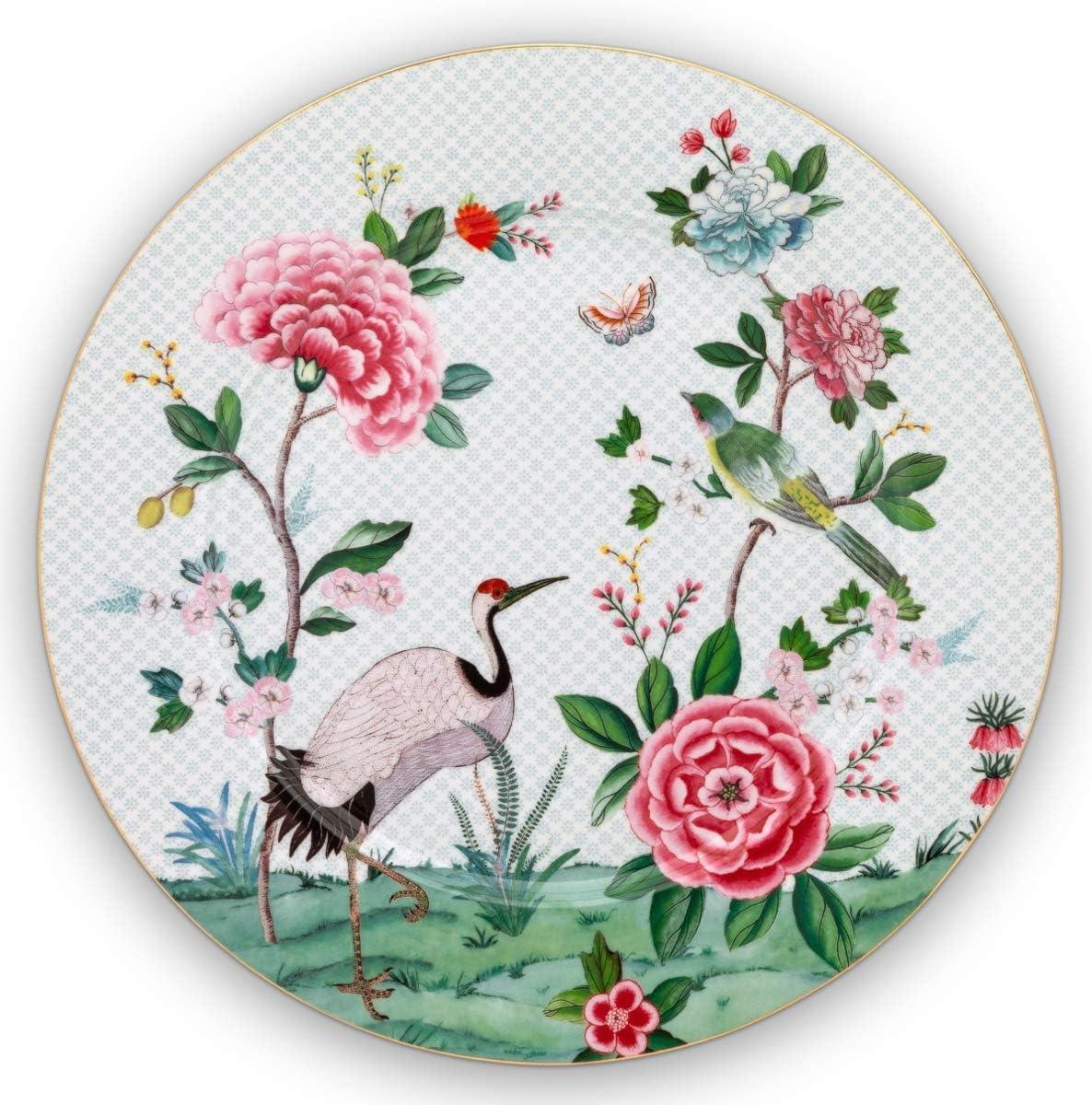 Pip Studio Blushing Birds Assiette Blanc 32 cm