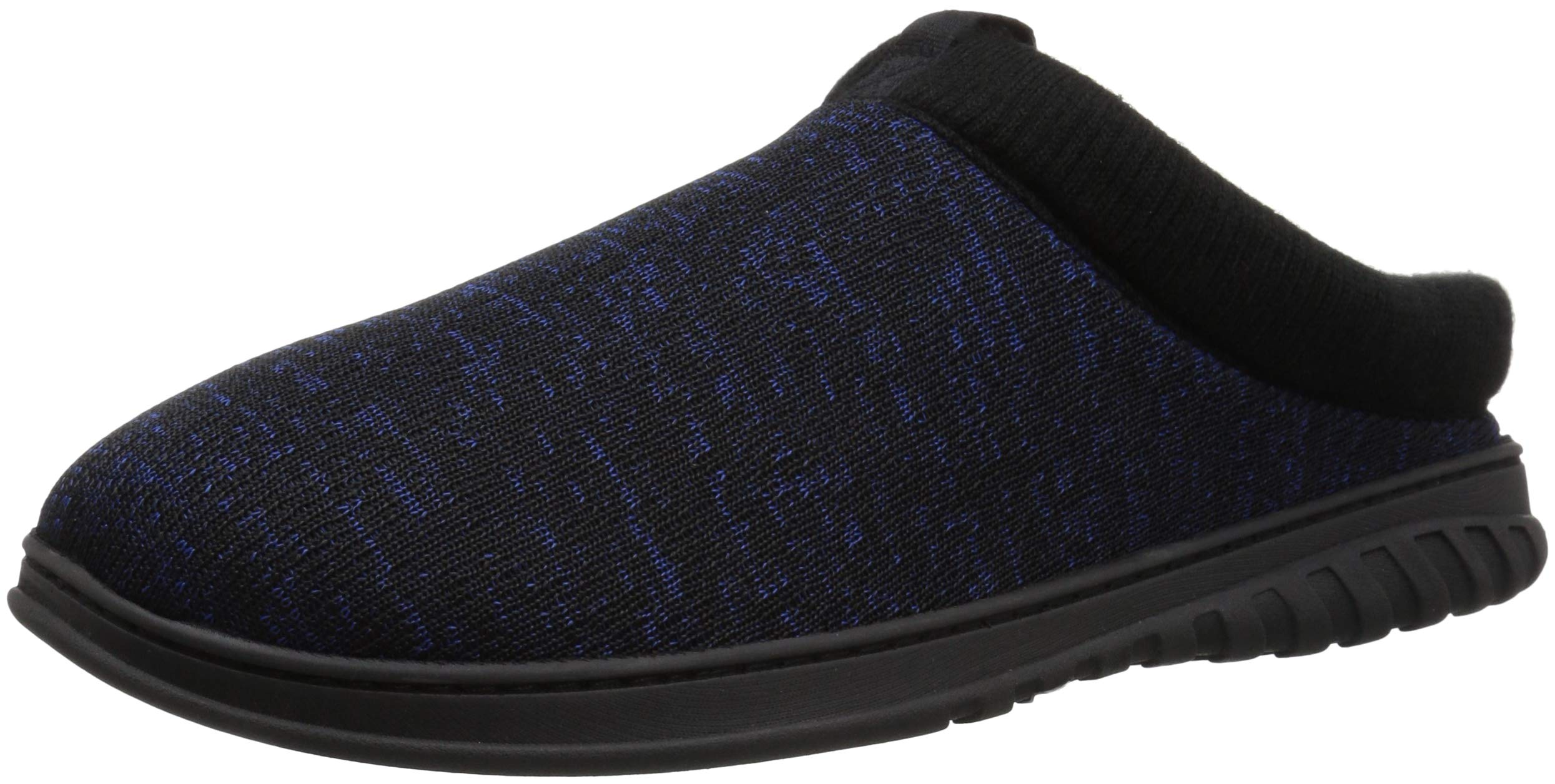 Dearfoams Men's Clog with Rib Knit Cuff Slipper, Navy Blazer, L Regular US