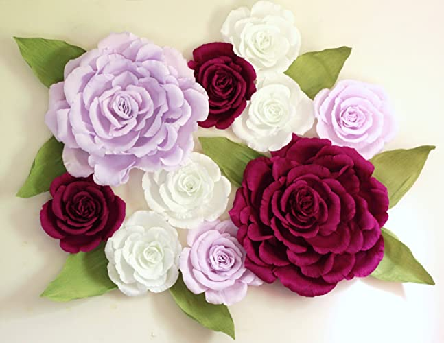 giant wall paper flowers wedding backdrop shop window display nursery decor alice