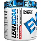 Evlution Evlution Nutrition LeanBCAA BCAA's CLA and L-Carnitine Recover and Burn Fat Sugar and Gluten Free (Fruit Punch 30 Serving)