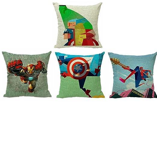 Diseño de Super Hero Decorativa cojín Manta de Lino y ...