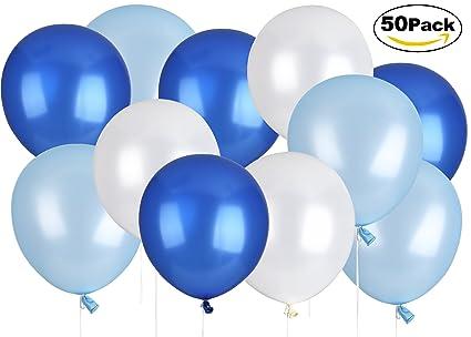 Lelengder 50 x Luftballons Blau | Luftballons | Luftballon für schöne Feiertage und Feste, Baby Shower, die Hochzeit, die zum