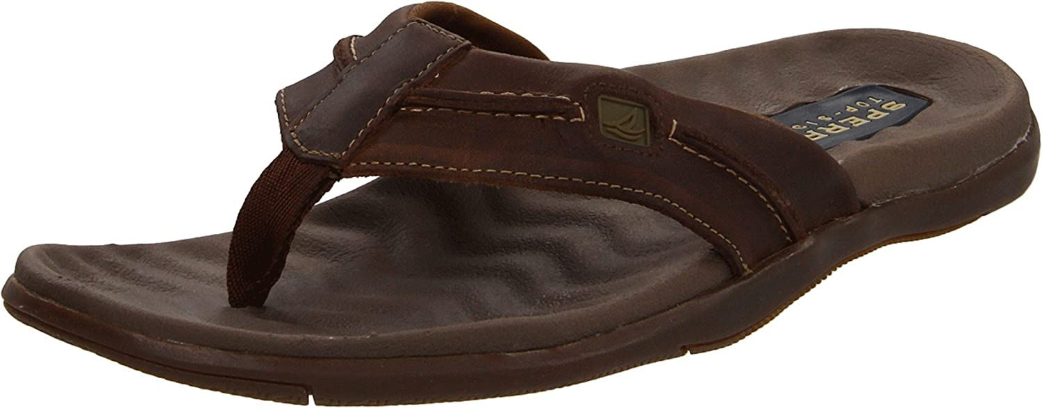 Amazon.com | Sperry Top-Sider Mens Double Marlin Sailboat Thong,  Brown/Olive, US 8 M | Sandals