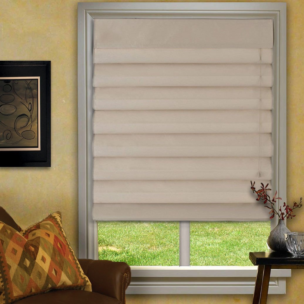 Amazoncom Waterfall Roman Shades Pearl 23x72 Home Kitchen