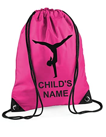 Personalised Girl Gymnastic Gym BAG (Hot Pink)  Amazon.co.uk  Sports ... 76a9ac17fd7f7