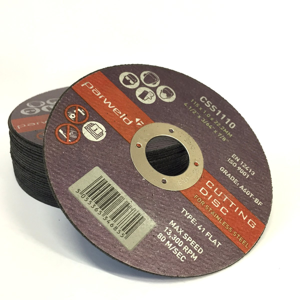 5 X  METAL CUTTING SLITTING DISCS 115MM  4.5 INCH