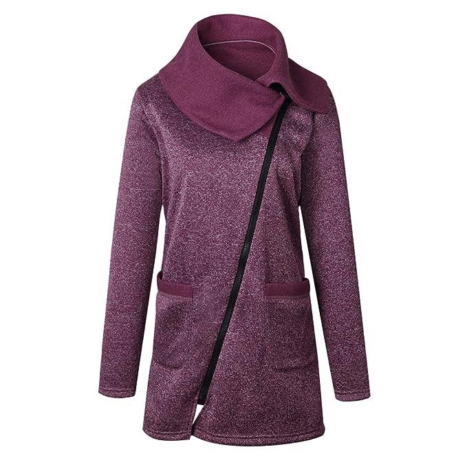 AidShunn Giacche e Cappotti da Donna Manica Lunga Cerniera