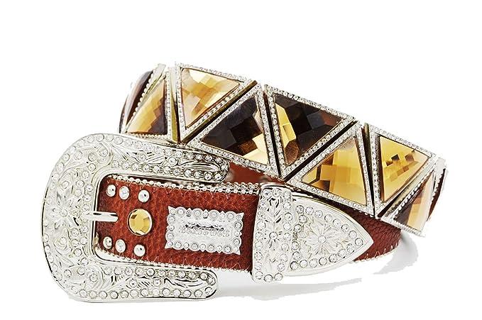 BELTSWEB Womens Triangle Glass Concho Western Belt At