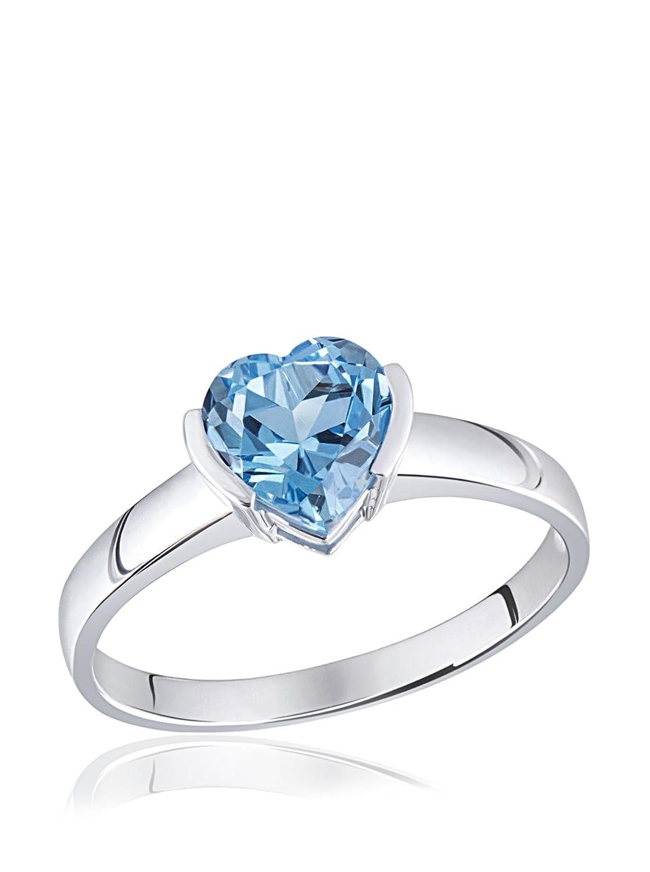 Diamantring herz  Goldmaid Damen-Ring Herz 375 Weißgold 1 hellblauer Topas: Amazon ...
