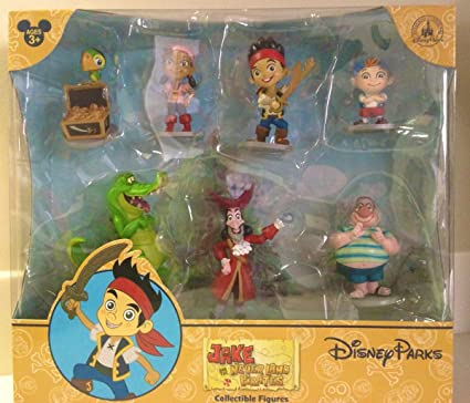 Remarkable Amazon Com Disney Parks Jake Neverland Pirates Figurine Playset Funny Birthday Cards Online Elaedamsfinfo