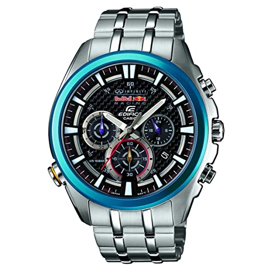 Casio Edifice Edifice Red Bull Racing Collection - Reloj de Cuarzo para Hombre, con Correa de Acero Inoxidable, Color Negro: Amazon.es: Relojes
