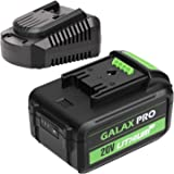 GALAX PRO 20 V Max 3.0 Ah Lithium Ion Battery and Charger, Replacement Battery for GALAX PRO Cordless Tools