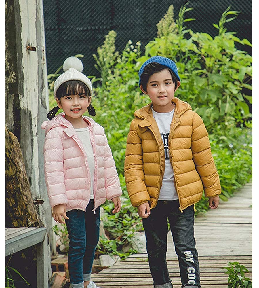 Ancia Jolly Winter Coats for Kids with Hoods Light Puffer Jacket for Baby Boys Girls Toddlers Infants