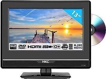 HKC 13M4C: Televisor LED de 33,8 cm (13 Pulgadas) con Reproductor ...