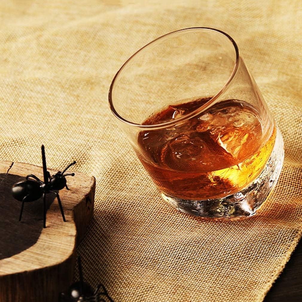 ZXX. Juego de 2 Vasos de Whisky de Cristal Inclinado, Vasos ...