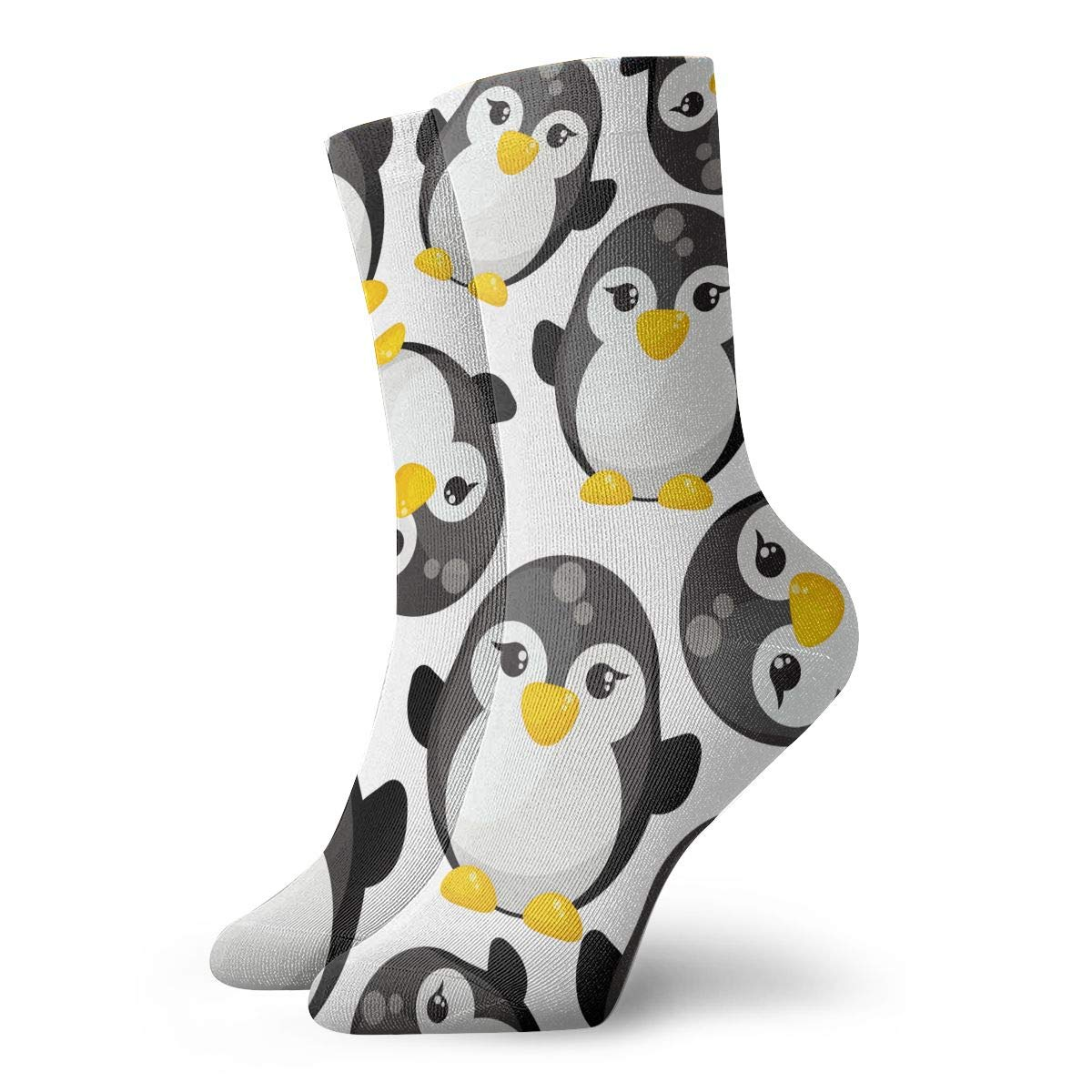 Cute Cartoon Penguins Unisex Funny Casual Crew Socks Athletic Socks For Boys Girls Kids Teenagers